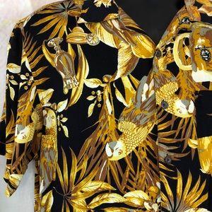 Panama Jack Shirts - Panama Jack Brown Hawaiian Short Sleeved Shirt
